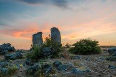 Pobiti kamani - phenomenon rock formations in Bulgaria near Varna Stock Images