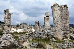 Pobiti Kamani of Steenwoestijn, de Provincie van Varna, Bulgarije royalty-vrije stock fotografie