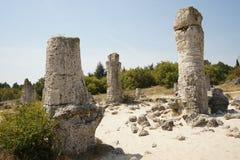 Pobiti Kamani The Stone Desert, a desert-like rock phenomenon Royalty Free Stock Images