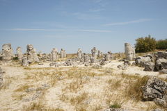 Pobiti Kamani The Stone Desert, a desert-like rock phenomenon Stock Photos