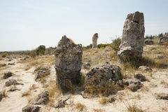 Pobiti Kamani The Stone Desert, a desert-like rock phenomenon. Located on the north west Varna Province border in Bulgaria Stock Photography