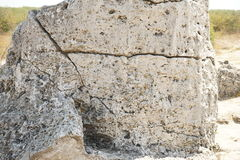 Pobiti Kamani The Stone Desert, a desert-like rock phenomenon Stock Photography