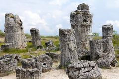 Pobiti Kamani or Stone Desert, Varna Province, Bulgaria royalty free stock photo