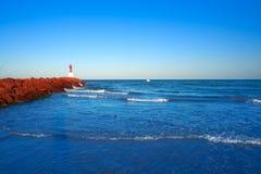 Pobla Puebla de Farnals beach  in Valencia of Spain royalty free stock photography