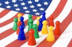 Población de América Imágenes de archivo libres de regalías
