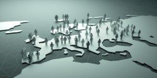 Población de Europa stock de ilustración