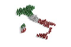 Población de la Italia Foto de archivo