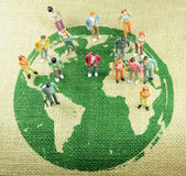 Población del mundo Foto de archivo