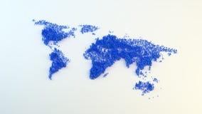 Población global ilustración del vector