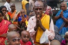 Población hindú religiosa de la India Fotos de archivo libres de regalías