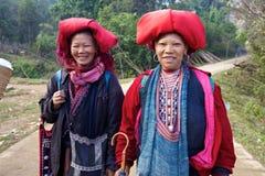 Población roja de la minoría de Dao Ehtnic de Vietnam Foto de archivo libre de regalías