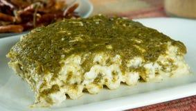 poblano lasagna vegan Στοκ Εικόνες