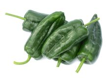 Poblano peppers Stock Photography