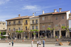 Poble Espanol in Barcelona Royalty Free Stock Photo