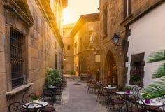 Poble Espanyol - παραδοσιακές αρχιτεκτονικές στη Βαρκελώνη Στοκ φωτογραφία με δικαίωμα ελεύθερης χρήσης