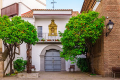 Poble Espanyol στη Βαρκελώνη, Ισπανία Στοκ Φωτογραφίες
