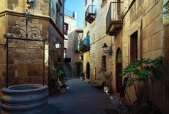 Poble Espanyol στη Βαρκελώνη Στοκ Φωτογραφίες