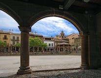 Poble Espanyol i Barcelona Royaltyfria Foton