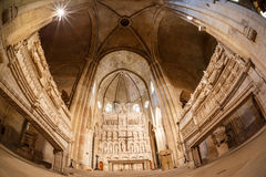 Poblet abbey in SPain Stock Photo