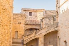 Poblet Monastery near Barcelona in Catalonia, Spain Royalty Free Stock Photos