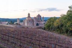 Poblet Monastery near Barcelona in Catalonia, Spain Royalty Free Stock Photography