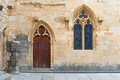 Poblet Monastery near Barcelona in Catalonia, Spain Stock Photos