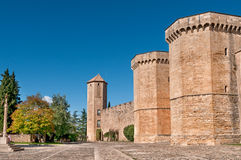 Poblet Monastery Wall, Tarragona Province, Spain Stock Photos