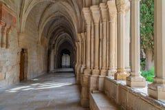Cloister of the twelfth century Cistercian monastery of Santa Maria de Poblet, Catalonia.