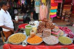 Pobocza Indiański przekąsek kram Fotografia Royalty Free