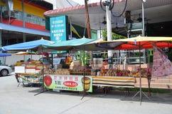 Pobocza stoiskowego sprzedawania krewetkowa pasta przy Tualang w Malezja Obraz Royalty Free