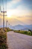 Pobocze elektryczności słup Fotografia Stock