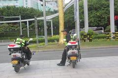 Pobocze odpoczynek patrol w SHENZHEN Zdjęcie Stock