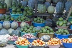 Pobocze produkt spożywczy stojak, Uganda, Afryka Obraz Stock