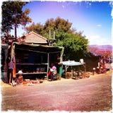 Pobocze turysty sklep Południowa Afryka obraz royalty free