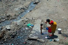 pobreza Foto de archivo libre de regalías
