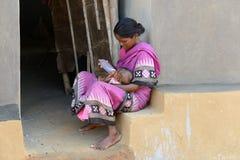 A pobreza da Índia imagem de stock