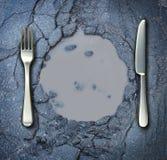 Pobreza e fome Fotografia de Stock Royalty Free