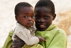 Pobreza em África Fotografia de Stock Royalty Free