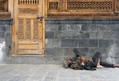 Pobreza em India Foto de Stock