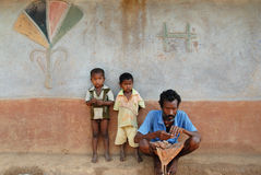 Pobreza em India Foto de Stock Royalty Free