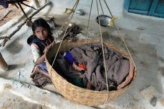Pobreza em India rural Imagens de Stock