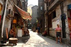 Pobreza en calles de China Imagen de archivo libre de regalías