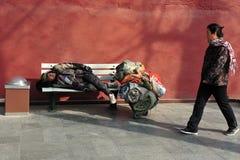 Pobreza en China Imágenes de archivo libres de regalías