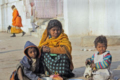 Pobreza en la India Fotos de archivo