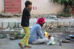Pobreza la India de los tugurios Fotos de archivo libres de regalías