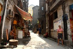 Pobreza nas ruas de China Imagem de Stock Royalty Free
