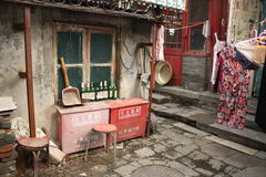 Pobreza nas ruas de China Fotos de Stock Royalty Free