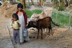 Pobreza rural en la India Imágenes de archivo libres de regalías