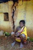 Pobreza tribal en la India Imagenes de archivo