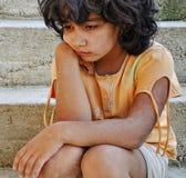 Pobreza y poorness en la expresión Imagen de archivo libre de regalías
